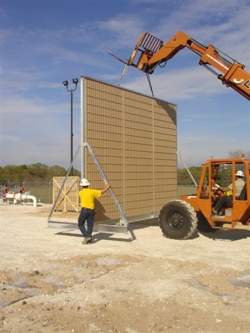 noise barrier wall panel