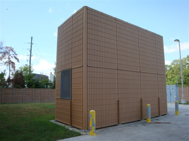 outdoor noise barrier walls